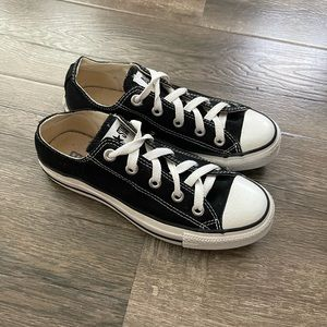 Converse all star black low top sneakers shoes